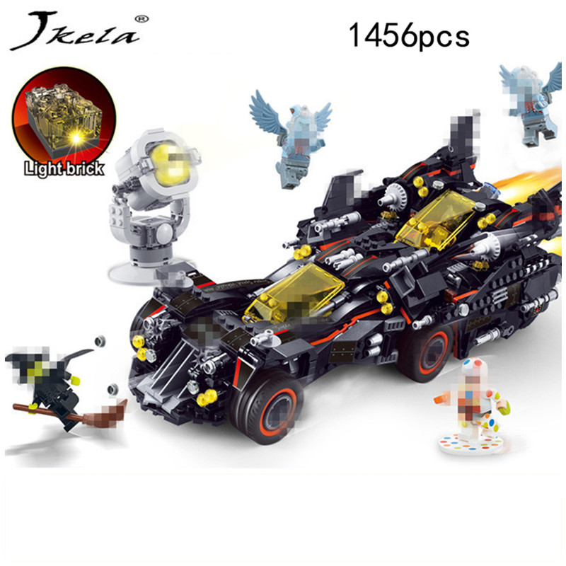 [Hot] Marvel Super Heroes Genuine Movie The Ultimate Batmobile Building Blocks Bricks Toys Compatible With legoingly Batman china brand bricks toy diy building blocks compatible with lego batman movie the batmobile 70905