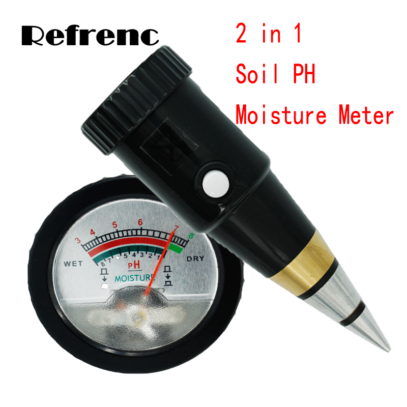 Portable plant Soil Moisture 1-8% PH 3-8 tester soil ph meter new 4 in 1 plant soil ph moisture light soil meter thermometer soil survey instrument ph value sunlight tester hot wholesale