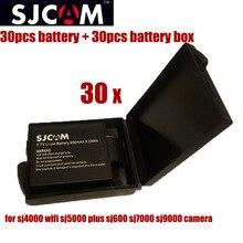 30 unids sjcam SJ4000 batería 3.7 V 900 mAh de litio recargable bateria con la batería caja para SJ 4000 SJ5000 5000 más SJ6000 SJ7000