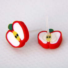 OATHYAN 36 Pairs/Set Fashion Assorted Polymer Clay Stud Earrings Set Handmade Fruits Cartoon Earrings For Women Girls Children