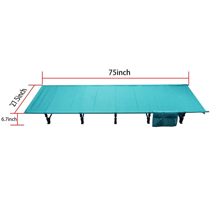 Ultralight Folding Fishing Camping Bed Sleeping Portable Backpack Tent Cot for Indoor Furniture Outdoor Travel Hiking Hunting