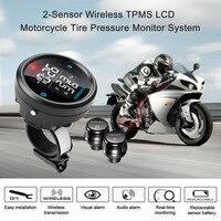 Motorrad Druck-monitor-system 2-sensor Wireless LCD Display Motorrad Alarmanlage Reifen undichten warnung