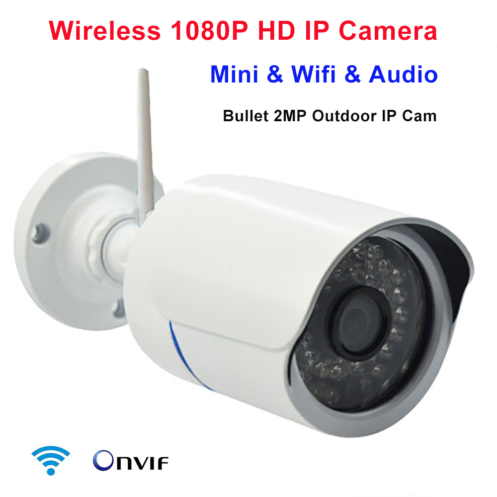 Wifi IP Camera 1080p Wireless IR Network 2mp Megapixel HD P2P Onvif Outdoor waterproof security camera IR night IP Kamera poe audio hd 1 3mp 960p outdoor ir network ip camera 36 ir security onvif 2 1 p2p