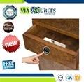 Супер мини замок отпечатков пальцев для ящика шкафа круглый умный электрический Противоугонный безопасный дверной замок с отпечатком паль...
