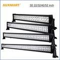"Auxmart 22 ""32"" 42 ""52"" 3D led light bar inundación del punto de haz barra de luz 12 V 24 V camión remolque camper 4x4 4WD SUV ATV UTV combo barra"