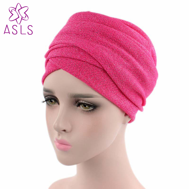 US $7 73 11% OFF|New Fashion turban breathable mesh shimmer long scarf head  wrap women hijab tube head scarf tie for women-in Women's Hair Accessories