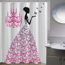 New Europe Fantasy Cartoon Girl Polyester Thicken Waterproof Fabric Bathroom Shower Curtain bath Curtain