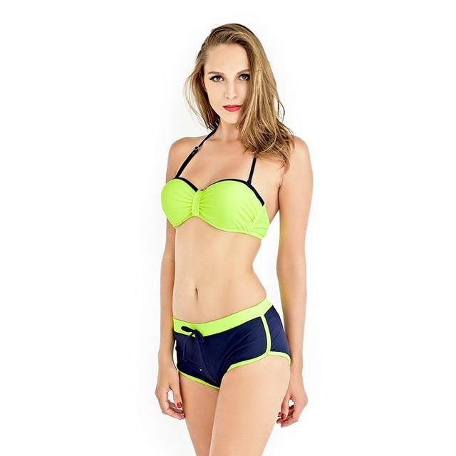 Bikini 2017 Two-Piece Swimwear Women Sport Swimsuit Push Up Swimming Suit Bikinis Beach Fitness  sc 1 st  AliExpress.com & Bikini 2017 Two Piece Swimwear Women Sport Swimsuit Push Up Swimming ...
