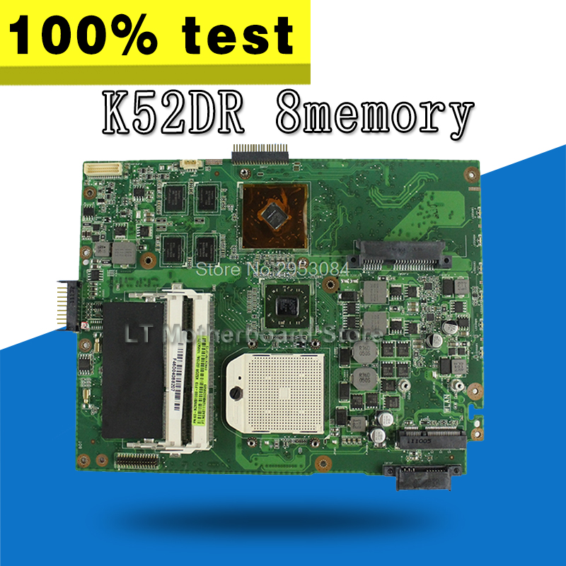 K52DR Motherboard HD5470 8 memory For ASUS A52DE K52DE A52DR K52D Laptop motherboard K52DR Mainboard K52DR Motherboard test Ok for asus k52jt k52dr laptop motherboard 60 n1wmb1100 rev 2 3 8 video memory non integrated graphics card 100
