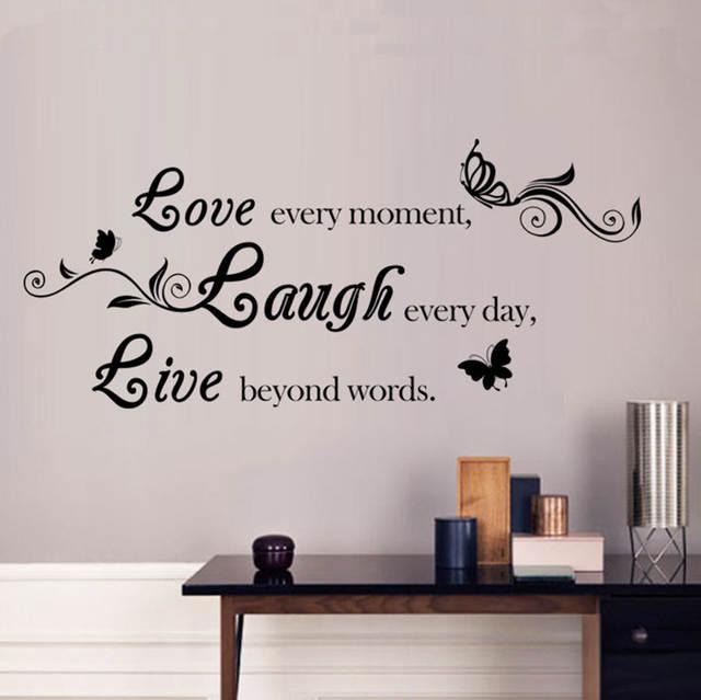 Liefde Lachen Live Muurstickers Engels Quotes Vinyl