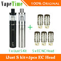Kit eleaf ijust s completo cigarro eletrônico 3000 mah bateria com 5 pcs ce vaping atomizador cabeça bobina nc ijusts vs eleaf ijust 2