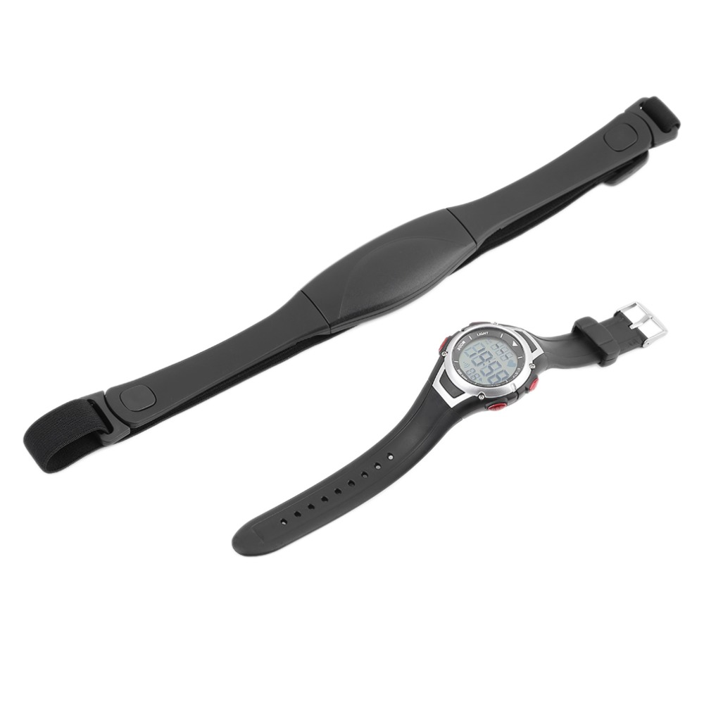 Waterproof Heart Rate Monitor + Sport Wireless Chest Strap Running Diving Watch With Back-light Alarm Clock Fitness Equipment