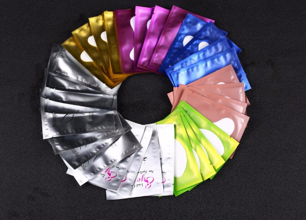 1000 Pairs lot Eye Pads Eyelash Extension Paper Patches Lint free Eye Tips Sticker Wraps Make