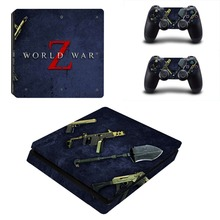 World War Zombies Z PS4 Slim Skin Sticker Decal for PlayStation 4 Console and Controller PS4 Slim Sticker Skins Vinyl