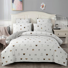 YAXINLAN Classic bedding set Pure cotton A/B double-sided pattern Cartoon Simplicity Bed sheet, quilt cover pillowcase 4-7pcs(China)