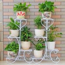 Европейские балконные и крытые Горшки Цветочные для сада подставка для цветов перголы Цветок Железный белый черный цвет коричневый