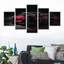 Modular HD Print Artwork Modern Sports Car Poster Home Decor Wall Art 5 Pieces Pictures 1965 Ford Mustang Canvas Painting