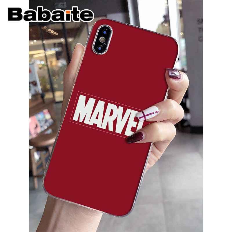 Babaite Superman Deadpool Hombre de Hierro vengadores de Marvel de La caja del teléfono de silicona para iPhone 8 7 6 6 S Plus X XS X MAX 5 5S SE XR cubierta móvil