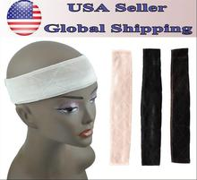 USA free shipping BHD Wig Grip Flexible Velvet Scarf Comfort Head Band Adjustable Fastern Wig Beige Brown Black Tan