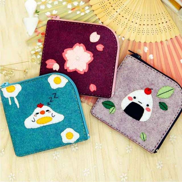 Felt Craft Girls Coin Purse Diy Sewing Japanese Cute Style Womens