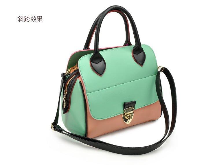New Fashion Free Shiping Handbag Retro Lock Decoration