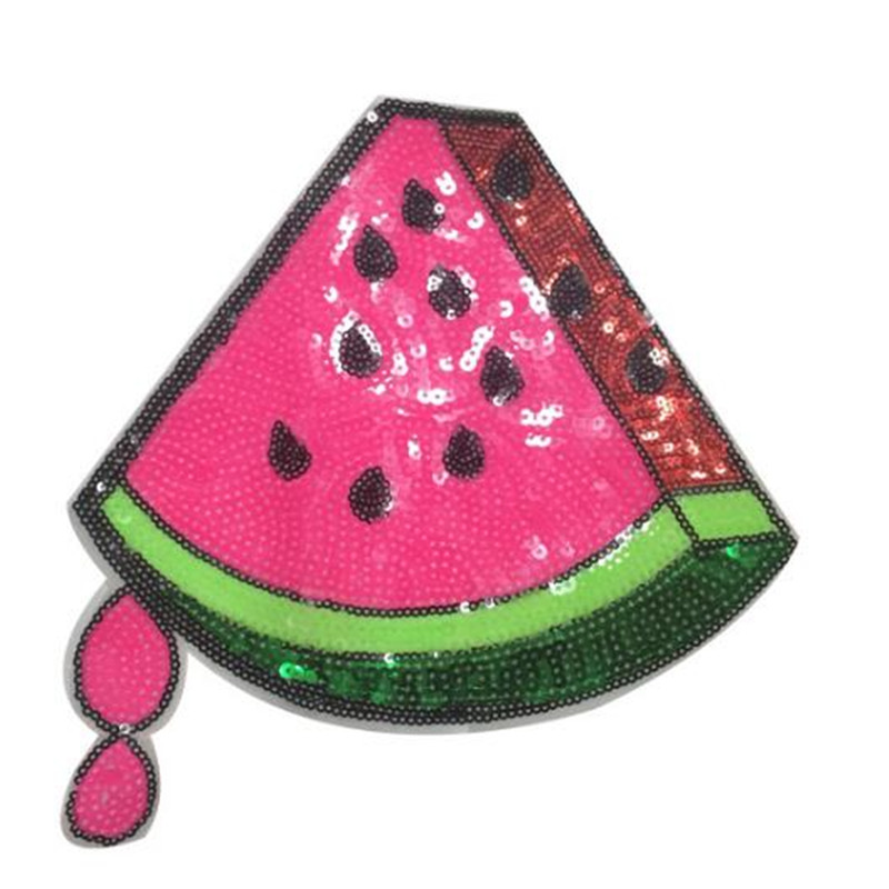 Fashion sequins Icon 235mm watermelon patches for clothing embroidery biker patch diy applique clothes t shirt women stickers