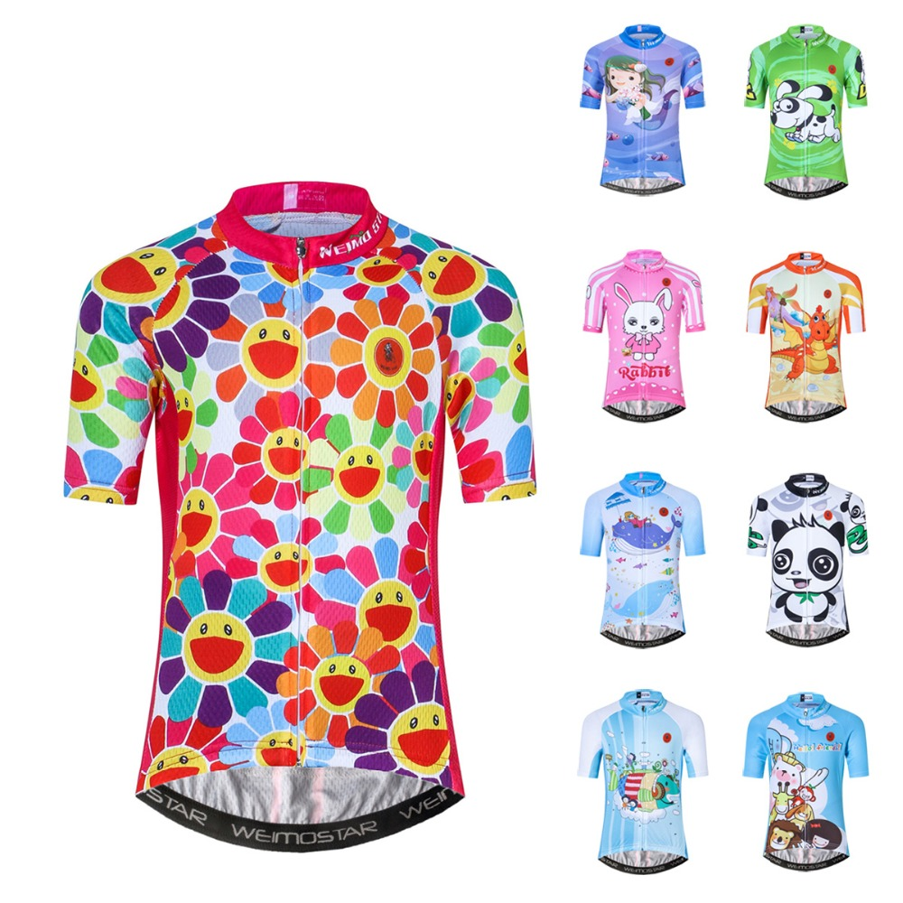 Bike Jersey Cycling Shirt Children Bicycle-Clothes Short-Sleeve Maillot Racing Ropa-Ciclismo