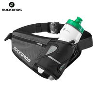 ROCKBROS Bags For Bike Unisex Running Bag Reflective Sport Waist Bags Bicycle Accessory Nylon Water Bottle Pouch Black Belt Pack