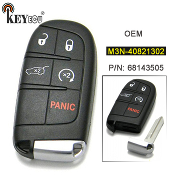 KEYECU M3N-40821302 OEM Echt 4 + 1 5 Button Keyless Entry Remote Smart Proximity Sleutelhanger voor Jeep Grand Cherokee 2014-2017