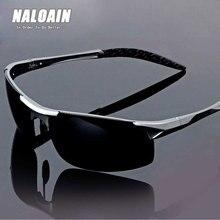 NALOAIN Polarized Sunglasses HD Lens Metal Frame Sport Sun Glasses Brand Designer Driving Goggles For Men Women Fishing Outdoor