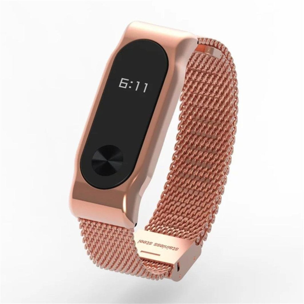 Mi Band 2 Strap Milan Stainless Steel for Xiaomi miband 2 Watchband Mesh Metal Bracelet Replace Straps Bands Milanese Belt black