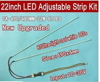 2PCS 490mm Adjustable brightness led backlight strip kit,Update your 22inch ccfl lcd wide screen panel monitor to led bakclight