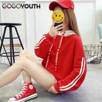 Gogoyouth 2018 Spring New Thin Hoodies Women Bts Kpop Loose Hooded Sweatshirt Women Pullover Female Casual