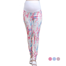 Colorful print regular trousers for pregnant women summer maternity clothes