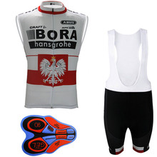 Cycling Jersey Sleeveless BORA Pro Team Men Bib Shorts Set Bike Clothing Ropa Maillot uniformes Ciclismo hombre Sportwear K28