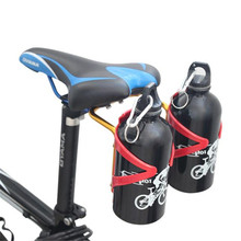 MTB Bike Seat Post Back Double Water Bottle Holder Cage Rack Adapter Sport & Outdoor Bicycle Accessories
