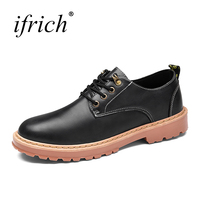 Mens Casual Shoes Hot Sale Lace Up Formal Shoes Male Leather Spring Autumn Footwear Wearable Rubber
