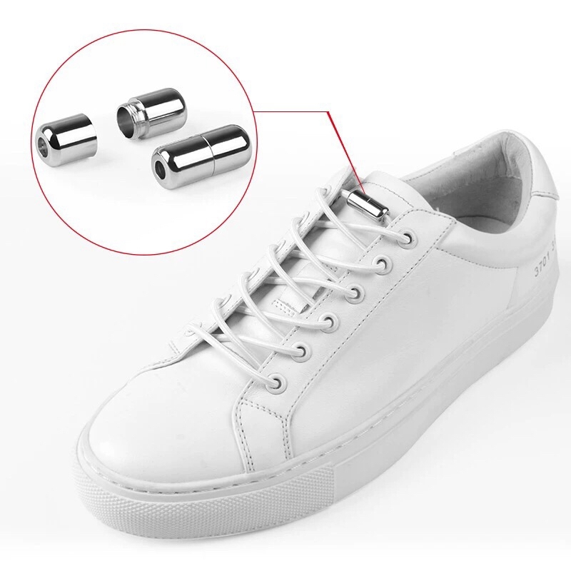 No Tie Shoelaces for Kids and Adults Round Tieless Elastic Shoe lace with Lock