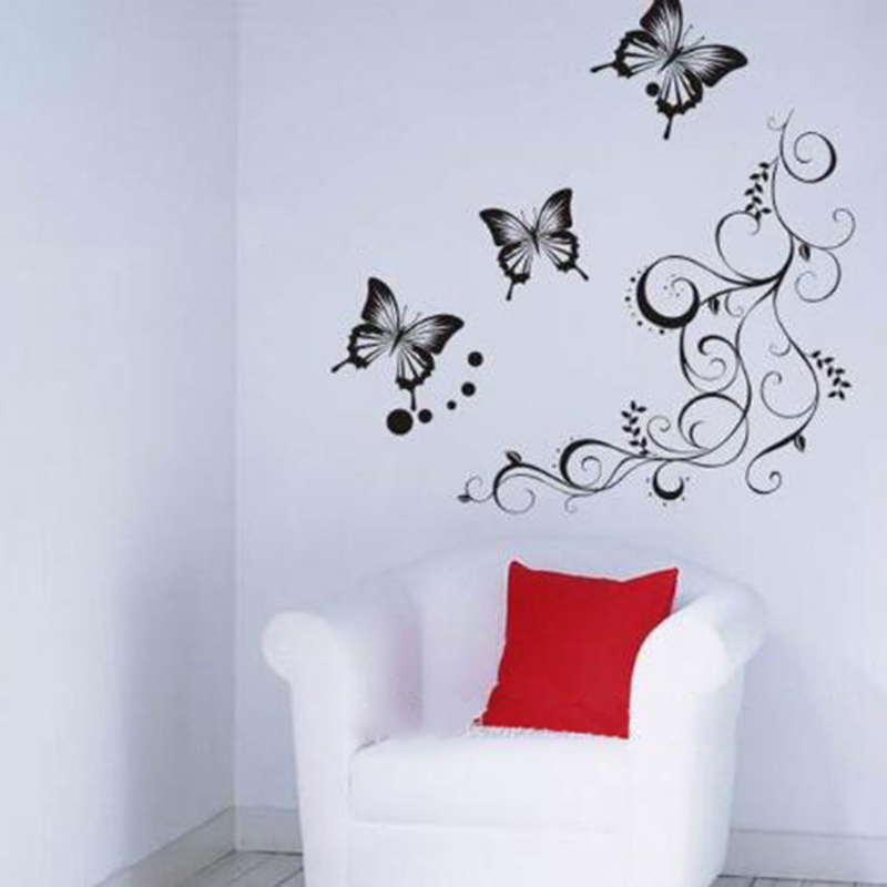 Hot Selling Removable Butteryfly Wall Stickers DIY Home Decor Decals Home Wall Decal Mural Art Wall Paper