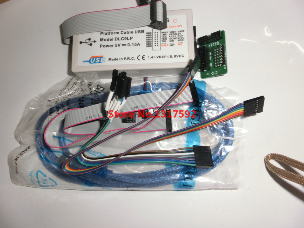 New 1 Set Xilinx Platform USB Download Cable For Virtex FPGA FPGA/CPLD JTAG SPI In-circuit Debugger Programmer Adapter