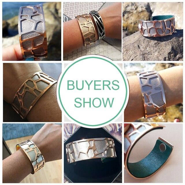 Cremo Giraffe Bracelets & Bangles For Women Stainless Steel Jonc Bijoux Femme Cuff Bangle 4