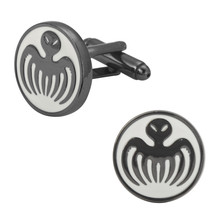 Men's shirts Cufflinks high-quality copper material Black round Octopus Cufflinks 2 pairs of packaging for sale
