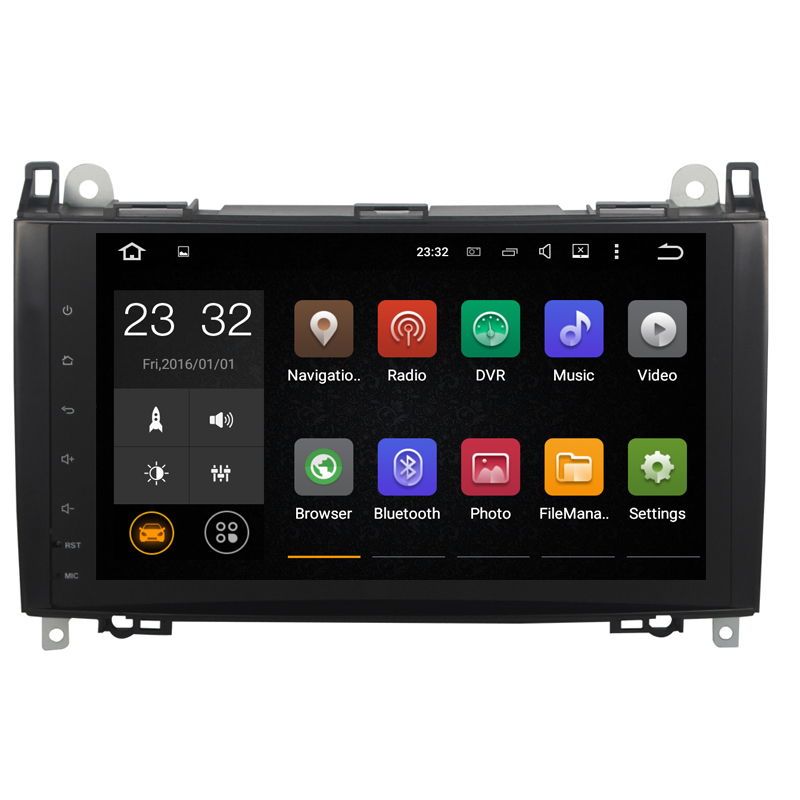 Android 8.1 2 Din 9 Inch Car DVD <font><b>GPS</b></font> Video Player For <font><b>Mercedes</b></font>/Benz/Sprinter/Viano/Vito/B-class/B200/<font><b>B180</b></font> CANBUS 1G RAM Radio image