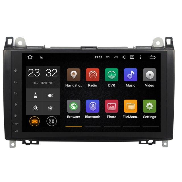 Android 8,1 2 Din 9 pulgadas coche DVD GPS reproductor de vídeo para Mercedes/Benz/Sprinter/Viano/ vito/Clase B/B200/B180 CANBUS 1G RAM Radio