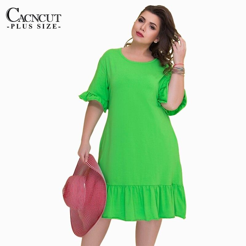 cd1c3658fb ... 6XL 2019 Plus Size Casuais Soltos Mulheres Vestido de Verão Tamanho  Grande Elegante Do Joelho-Comprimento Vestido Vestidos Soltos vestir Para  Trabalhar