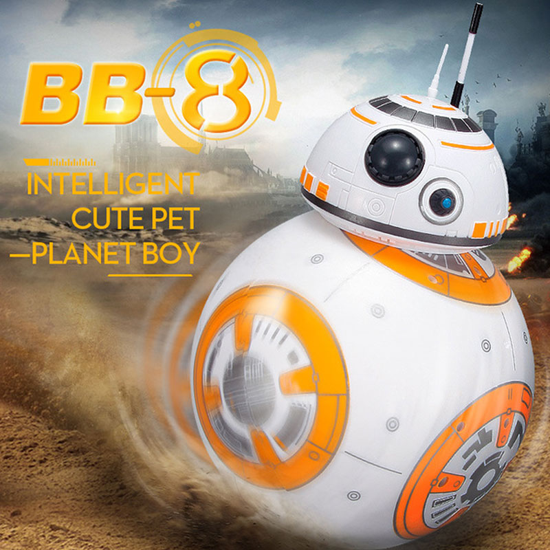 Fast shipping smart Star Wars BB8 Robot with action figure sound gift toys BB-8 Ball Robot 2.4G remote control christmas gifts