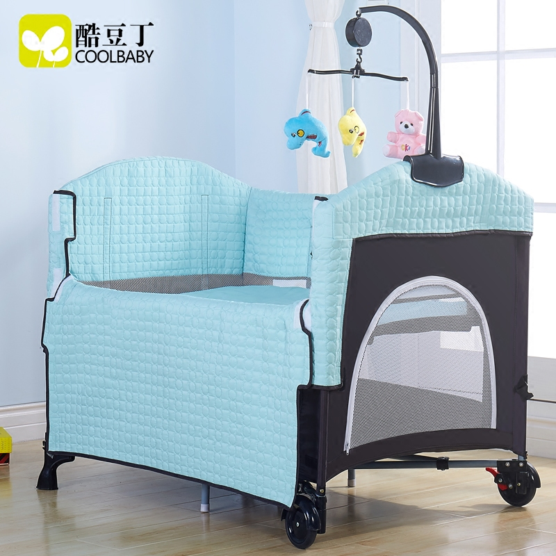 Coolbaby portable crib can be docked fold BB cradle multi-function European-style game bed multi function white radish style peeler