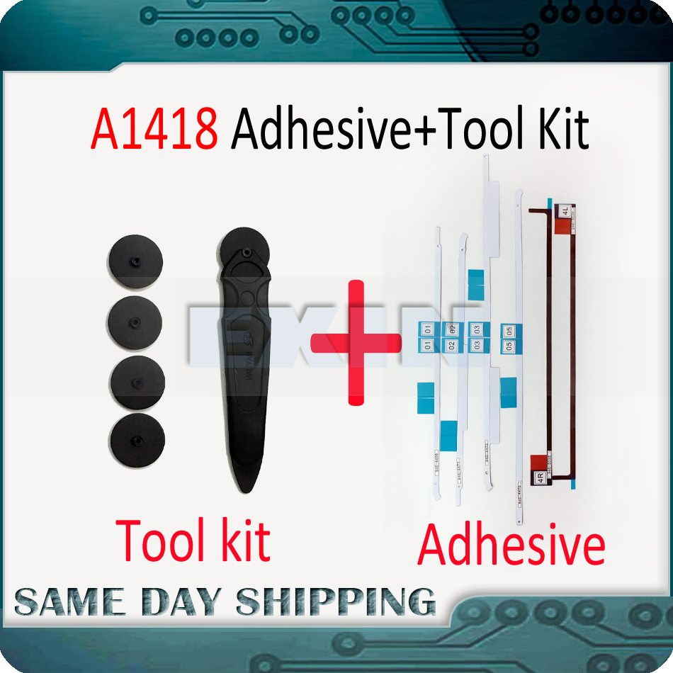 New A1418 LCD Screen Adhesive Strip for iMac A1418 21.5 LCD Display Adhesive Strip Sticker Tape and Tools Repair Kit 2012-2017 double sided tape 2mm 50m strong acrylic adhesive red film clear sticker for mobile phone lcd pannel display screen repair