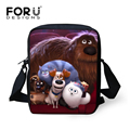 FORUDESIGNS The Secret Life of Pets Messenger Bags Women Shoulder Bag Mini Children Crossbody Bag Cartoon Kids Shoulder Bags