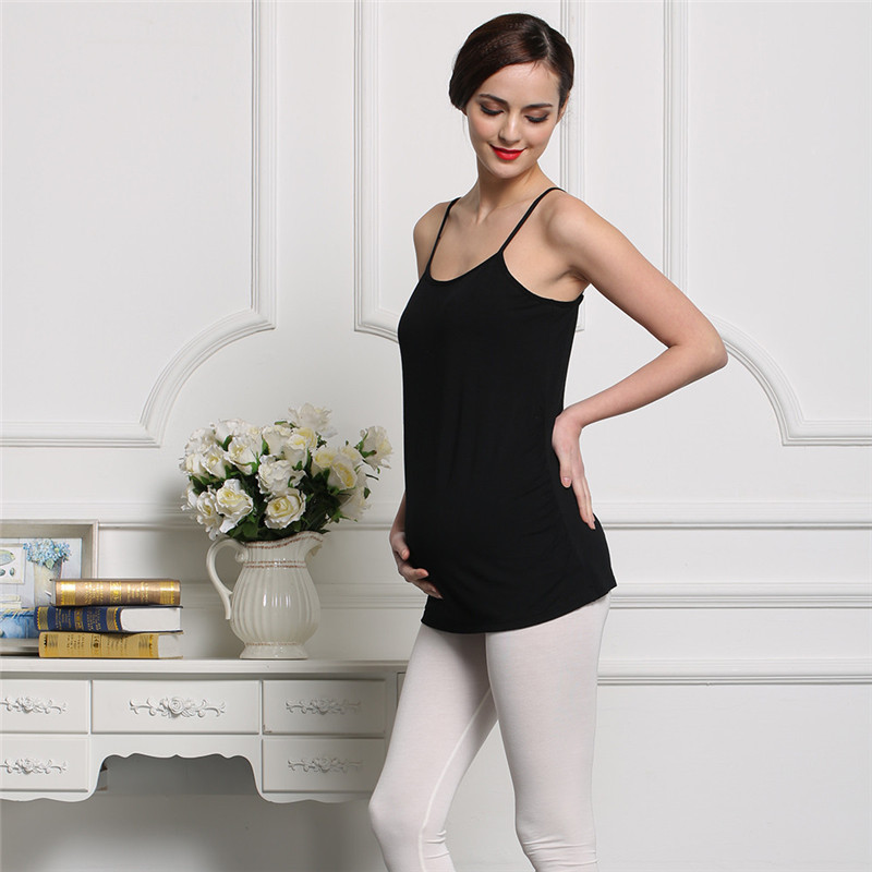 Maternity Pregnant Bra Basic Tank Tops Camisole Breathable Vest Clothes Slim Body Shape Wirefree with Pad M-XL